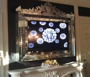Mirror-framed TV